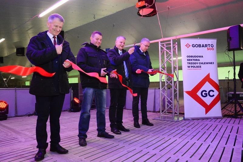 Otwarcie budynku inwentarskiego Gobarto 500 w Kunowie